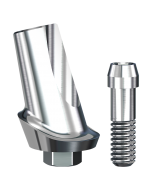 Implant Direct™ Dentistry ScrewPlant 15° Angled Contoured Titanium Abutment (4.7mmD Platform x 1mmL Collar Height) - 1 / Per Box