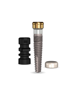 Implant Direct™ Dentistry GoDirect 3.0mmD X 13mmL, 1.5mm Collar Height SBM 4.0mmD Platform Dental Implant System - 1 / Pack