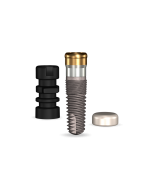 Implant Direct™ Dentistry GoDirect 3.7mmD X 10mmL, 1.5mm Collar Height SBM 4.0mmD Platform Dental Implant System - 1 / Pack