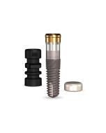 Implant Direct™ Dentistry GoDirect 3.7mmD X 10mmL, 3.0mm Collar Height SBM 4.0mmD Platform Dental Implant System - 1 / Pack