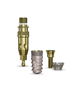 Implant Direct™ Dentistry SwishActive 4.1mmD x 8mmL SBM: 3.4mmD Platform Dental Implant System - 1 / Pack