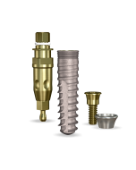 Implant Direct™ Dentistry SwishActive 4.1mmD x 16mmL SBM: 3.4mmD Platform Dental Implant System - 1 / Pack