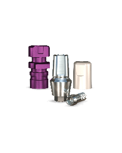 Implant Direct™ Dentistry ScrewPlant Straight Snappy Type Titanium Abutment (3.7mmD Width x 3.7mmD Platform x 3mmL Collar Height) - 1 / Per Box