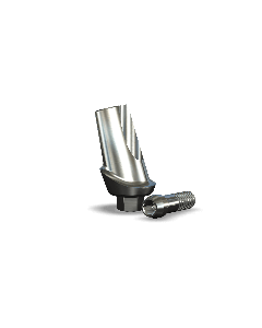 Implant Direct™ Dentistry Legacy 15° Angled Contoured Titanium Abutment (4.5mmD Platform x 1mmL Collar Height) - 1 / Per Box