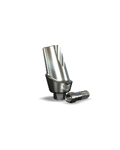 Implant Direct™ Dentistry Legacy 15° Angled Contoured Titanium Abutment (4.5mmD Platform x 2mmL Collar Height) - 1 / Per Box