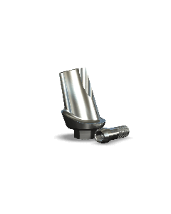Implant Direct™ Dentistry Legacy 15° Angled Contoured Titanium Abutment (5.7mmD Platform x 1mmL Collar Height) - 1 / Per Box