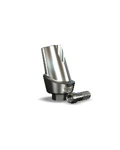 Implant Direct™ Dentistry Legacy 15° Angled Contoured Titanium Abutment (5.7mmD Platform x 2mmL Collar Height) - 1 / Per Box