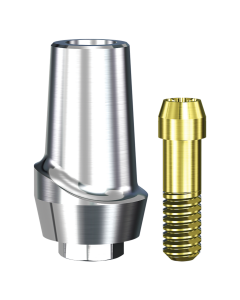 Implant Direct™ Dentistry Swish Straight Contoured Titanium Abutment (4.8mmD Platform x 2mmL Collar Height) - 1 / Per Box