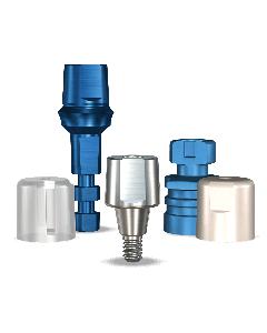 Implant Direct™ Dentistry Swish Straight Snappy Type Titanium Abutment (6.5mmD Platform x 0mmL Collar Height) - 1 / Per Box