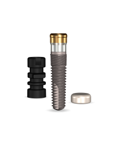 Implant Direct™ Dentistry GoDirect 3.7mmD X 13mmL, 1.5mm Collar Height SBM 4.0mmD Platform Dental Implant System - 1 / Pack