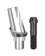 Implant Direct™ Dentistry RePlant 15° Angled Contoured Titanium Abutment (4.3mmD Platform x 1mmL Collar Height) - 1 / Per Box