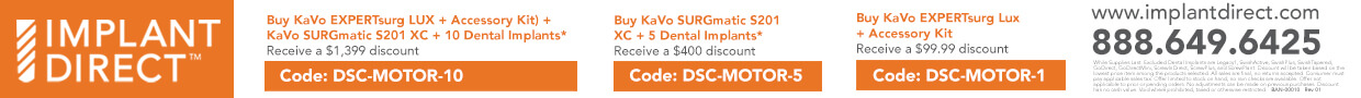 The New KaVo EXPERTsurg LUX Dental Implant Motor Special Offers